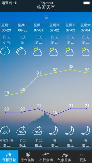 临沂天气通 iOS版 临沂天气通 iPhone版 3.0
