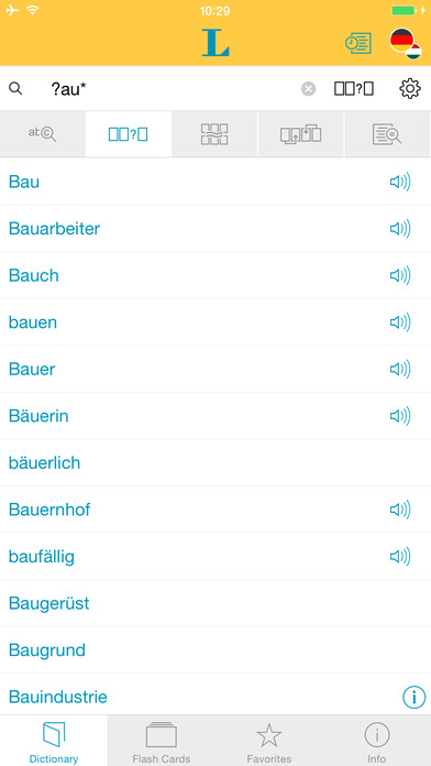 Hungarian <-> German Dictionary Langenscheidt Essential iPhone Screenshot 4