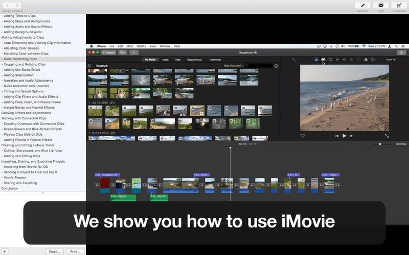 Tutor for iMovie Screenshot