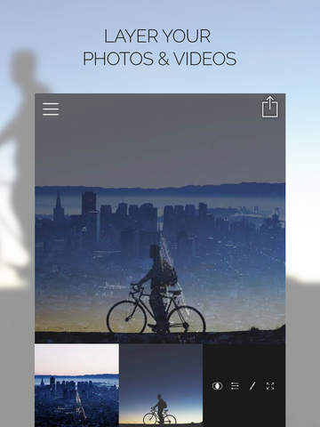 Fused : Double Exposure, Video and Image Blender & Editor screenshot