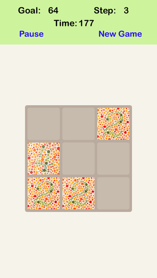 Color Blind 3X3 - Sliding Number Block