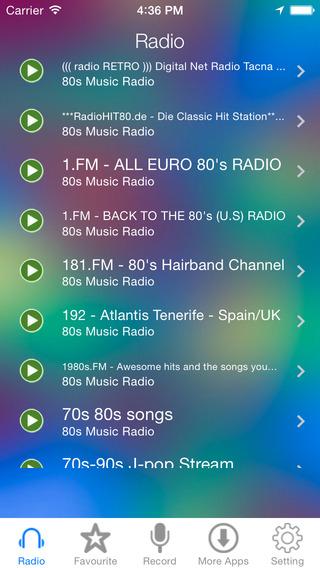 80s Music Radio Recorder