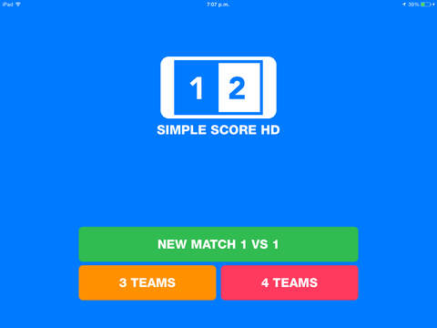 Simple Score HD : The simplest way to keep scores