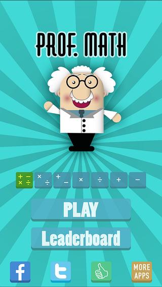 Prof. Math - a addictive arithmetic game