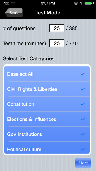 CLEP: American Government Exam Prep iPhone Screenshot 1