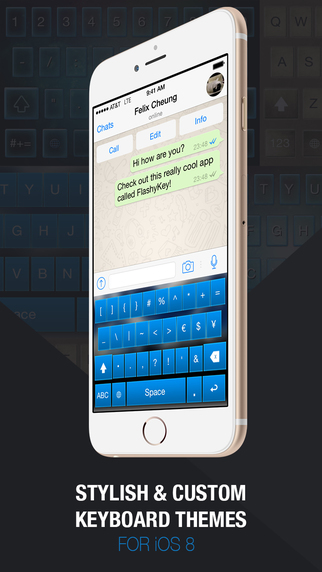 FlashyKey Pro - Custom Color Keyboard Themes Skins for iOS8