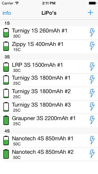 LiPo watch - Lithium Polymer battery logbook