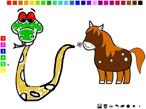 :动物的孩子 学画画