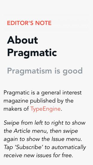 Pragmatic Magazine.