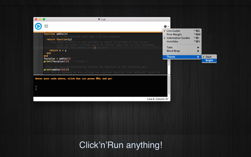 Run Lua Screenshot - 1