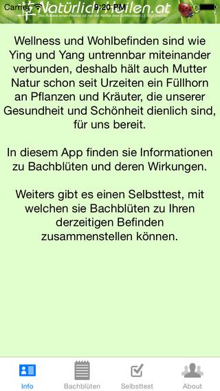 Bachblüten Info and Test