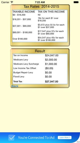 Tax Calc Aussie