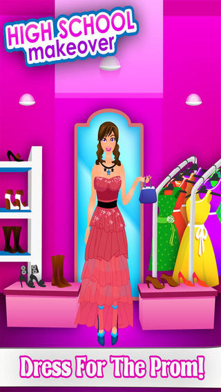 High School Party Makeover Prom Queen Dressup Game Free
