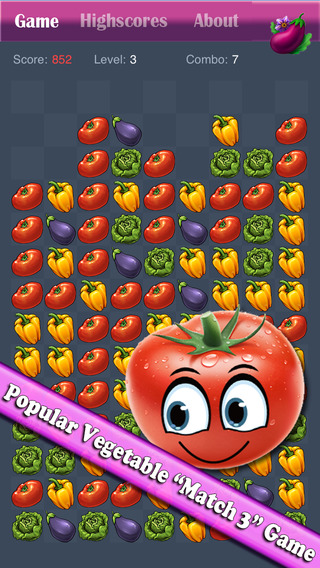 Vegetable Blast Mania - Vegetable crush game