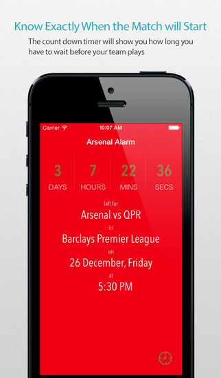 Arsenal Alarm Pro — News live commentary standings and more for your team