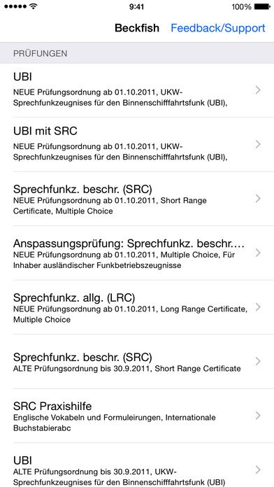 Sprechfunk SRC UBI iPhone Screenshot 2