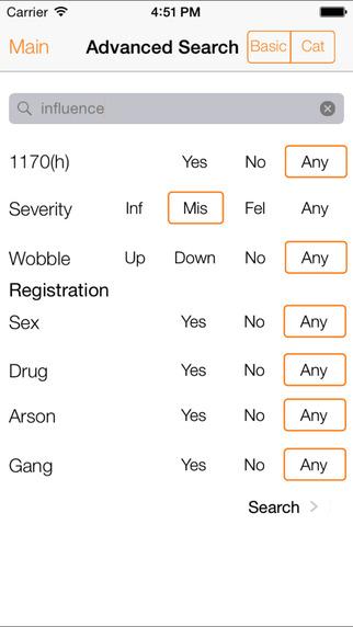 California Crime Finder - iPhone Version