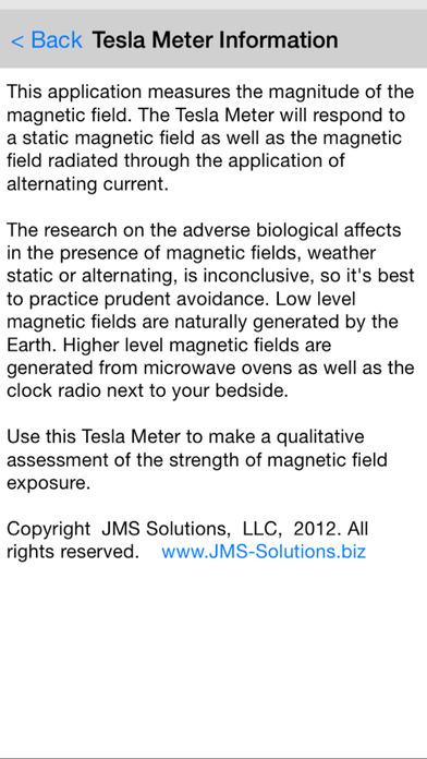 Tesla Field Meter iPhone Screenshot 4