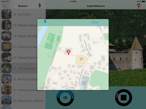 Bolzano Giracittà - Audioguida iPad Screenshot 2