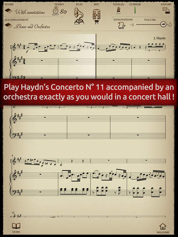 Play Haydn - Piano Concerto No. 11 second movement adagio