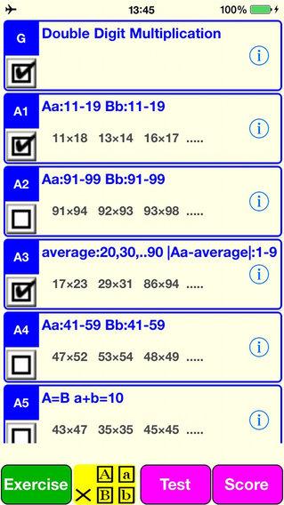 2 Digit Multiplication iPhone Screenshot 1