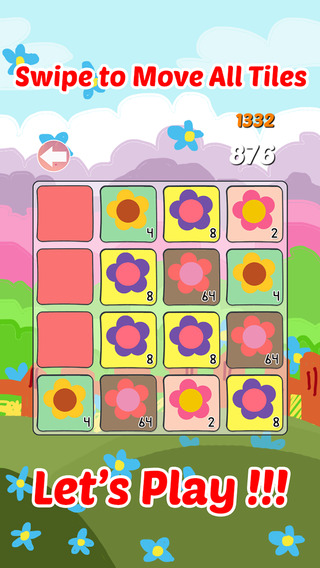 AAA+ 2048 Flowers Mania: Amazing Blossom Garden Tiles Numbers Puzzle Match Game For Limited Editions