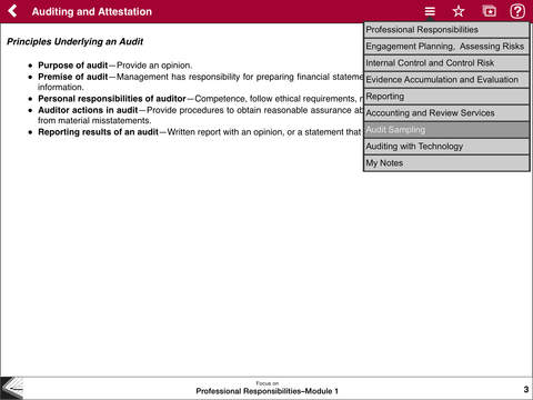 AUD Notes - Wiley CPA Exam Review Focus Notes On-the-Go: Auditing and Attestation iPad Screenshot 3