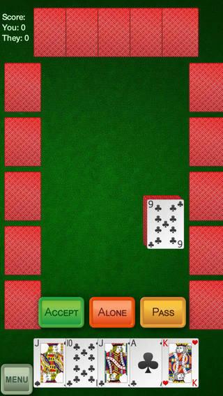 Euchre+ iPhone Screenshot 1