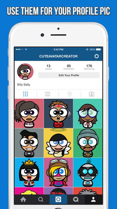 Character Design App Iphone : Cute avatar creator make funny cartoon characters for