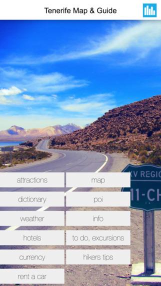 Tenerife Spain Offline GPS Map Travel Guide Free