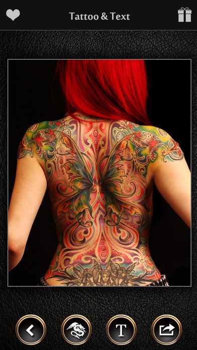 virtual tattoo maker free photo designer to add artist tattoos fonts on yr body apppicker. Black Bedroom Furniture Sets. Home Design Ideas