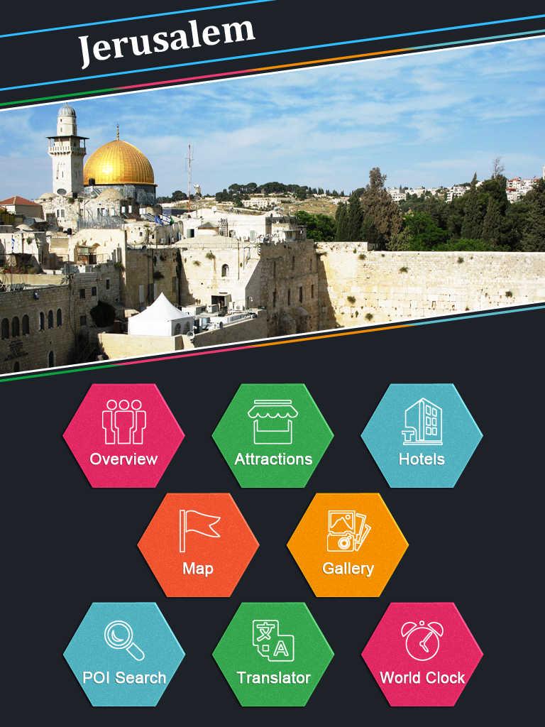 Old City Map - iTravelJerusalem