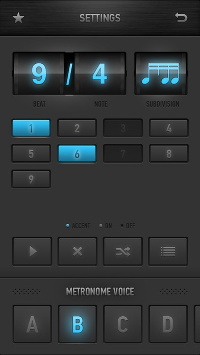 MetroTimer - Metronome & Music Practice Timer iPhone Screenshot 2