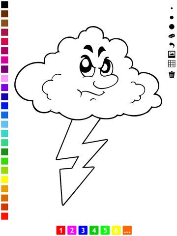 为幼儿和儿童学画画的天气图片