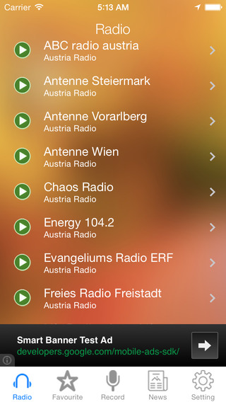 Austria Radio and Newspaper