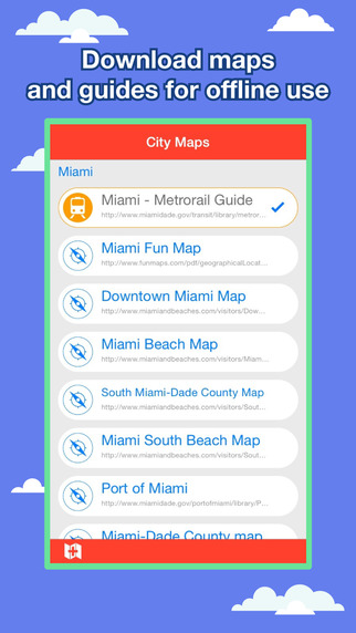 Miami City Maps - Discover MIA with Metrorail, Bus, and Travel Guides. Apps free for iPhone/iPad screenshot