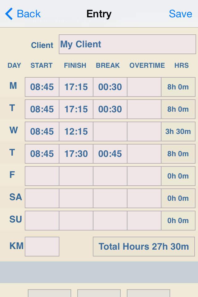 纸张或excel考勤表,为您创建一个简单程序的周时间表图片