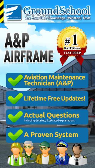 GroundSchool FAA Knowledge Test Prep - Aviation Mechanic Airframe