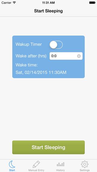 SleepTrack - Automatic sleep detection