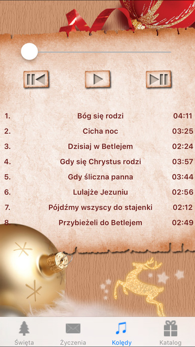 Kolędy, życzenia świąteczne - Boże Narodzenie iPhone Screenshot 4
