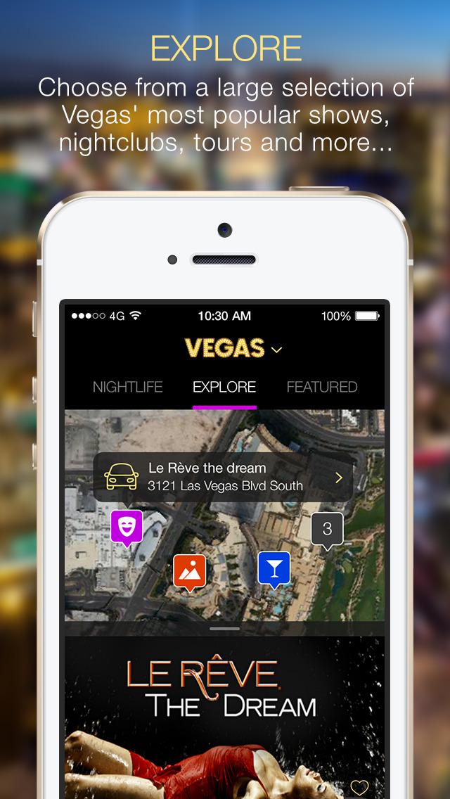 VEGAS (the app) screenshot