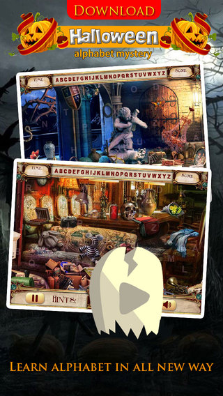 Halloween Alphabet Mystery Free - ABCD Learning with Hidden Objects