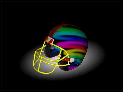 Football Helmet 3D - Design your helmet decals iPad Screenshot 3