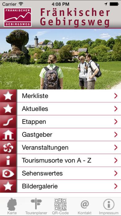 Fränkischer Gebirgsweg! Die Erlebnistour iPhone Screenshot 2