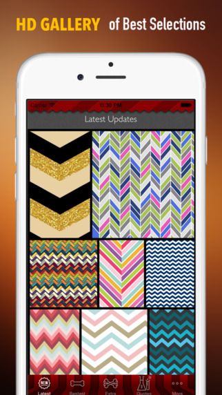 Chevron Wallpapers HD: Quotes Backgrounds Creator with ZigZag Designs and Patterns