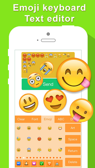 Emoji Keyboard Art Emojis Stickers Animate Sticker icon Text Font for Chat Message