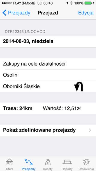 Ewidencja Przebiegu Pojazdu Lite iPhone Screenshot 1