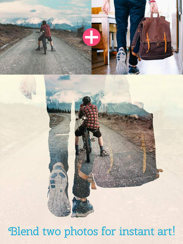 Instant Blend HD Pro - Double Exposure Blender with Instagram ready square frames and Photoshop like