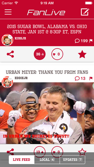 FanLive: Buckeye Sports Fan Community - Ohio State Edition