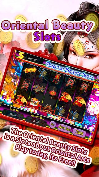 An Oriental Beauty Slots - Play and Win Progressive Chips in a Beauty Saloon